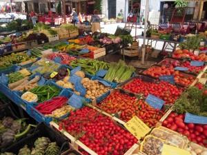 A market stall in Campo dei Fiori, Rome