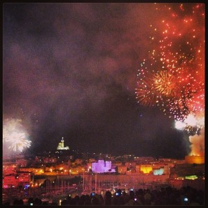Bastille Day fireworks in Marseille
