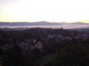 The early morning fog retreating from Varese