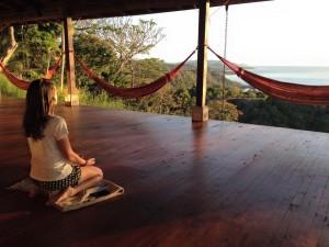 Meditation on the Anamaya yoga deck