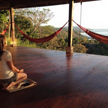 Meditation on the Anamaya yoga deck